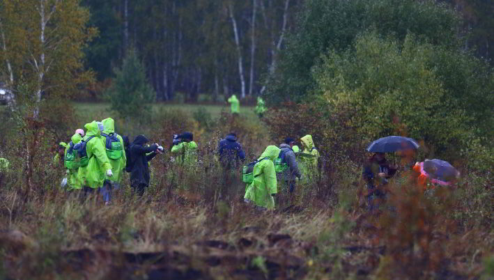 В лесничество к западу от Новосибирска выехала группа волонтёров
