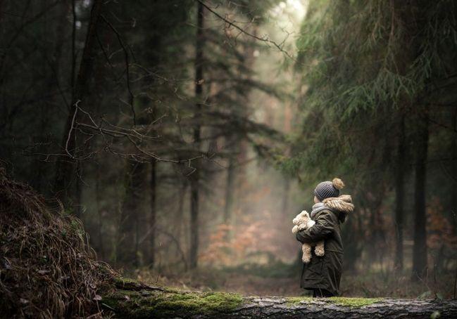 девочка заблудилась в лесу